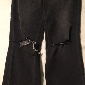 Express Jeans - Express. Ankle Frayed Grey Leggings. Like New.